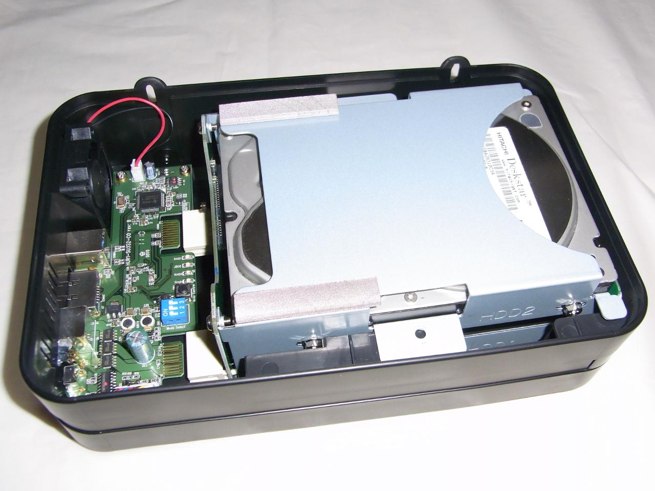 CG-HDC2EUS31-WのHDDトレイを本体に戻す