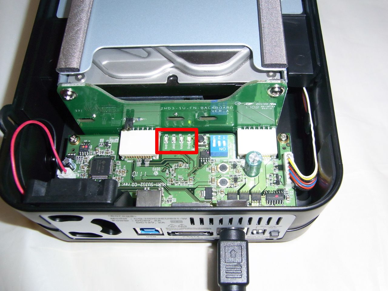 CG-HDC2EUS31-WのHDDモード確認ランプ